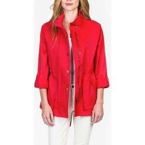 Lilla P Anorak Jacket Red Trench Raincoat